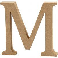Letra, M, A: 13 cm, grosor 2 cm, 1 ud