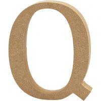 Letra, Q, A: 13 cm, grosor 2 cm, 1 ud
