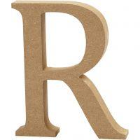 Letra, R, A: 13 cm, grosor 2 cm, 1 ud