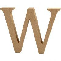 Letra, W, A: 13 cm, grosor 2 cm, 1 ud