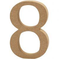 Número, 8, A: 13 cm, grosor 2 cm, 1 ud