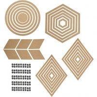 Decoración de pared, A: 5,5-29,5 cm, El contenido puede variar , 10 set/ 1 paquete