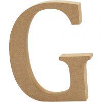 Letra, G, A: 8 cm, grosor 1,5 cm, 1 ud