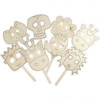 Máscaras, L. 35 cm, A: 22 cm, grosor 2 mm, 16 ud/ 1 paquete