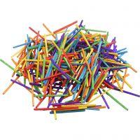 Cerillas, L. 5 cm, surtido de colores, 500 gr/ 1 paquete, 4300 ud