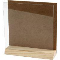 Placa 3D con cristal, medidas 15x15 cm, 1 set