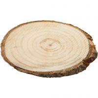 Rodaja de madera, medidas 9,5x6 cm, grosor 6 mm, 12 ud/ 1 paquete