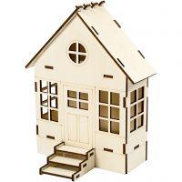 Casa - Set de construcción, A: 24 cm, profundidad 6(12,5) cm, A: 19 cm, 1 ud