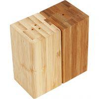 Juego de sal y pimienta, A: 9 cm, A: 5 cm, medida agujero 3 mm, 1 set