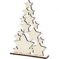 Árbol de Navidad, A: 29,8 cm, profundidad 4 cm, A: 21,5 cm, 1 ud