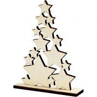 Árbol de Navidad, A: 19,6 cm, profundidad 4 cm, A: 14,7 cm, 1 ud