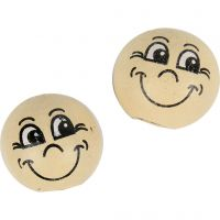 Pelotas de cara sonriente, dia: 12 mm, polvo claro, 20 ud/ 1 paquete