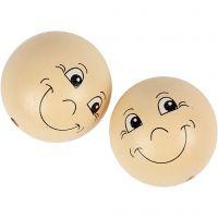 Pelotas de cara sonriente, dia: 40 mm, polvo claro, 10 ud/ 1 paquete