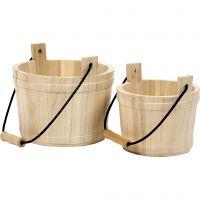 Cubo de madera, medidas 16x17 cm, 2 ud/ 1 set
