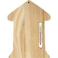 Casa con termómetro, medidas 23,5x16,5 cm, 1 ud