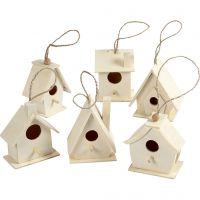 Casas de pájaros, A: 7 cm, 6 ud/ 1 paquete
