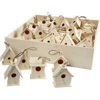 Casas de pájaros, A: 7 cm, 6x10 ud/ 1 paquete
