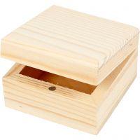 Joyero, medidas 6x6x3,5 cm, 2 ud/ 1 paquete