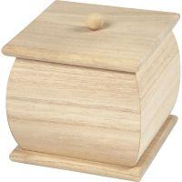 Caja pequeña con tapa, medidas 7,5x7,5x8 cm, 1 ud