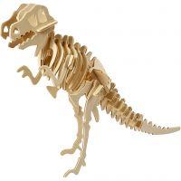 Figura de construcción 3D, Dinosaurio, medidas 33x8x23 cm, 1 ud