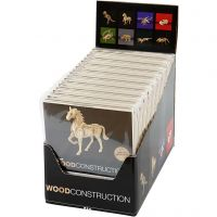 Kit de construcción 3D de madera, A: 6-23 cm, 64 ud/ 1 paquete