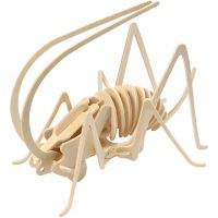 Kit de construcción 3D de madera, Grillo, medidas 22,5x15x18 cm, 1 ud
