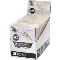 Kit de construcción de madera 3D con APP, A: 11,5-22 cm, 48 ud/ 1 paquete