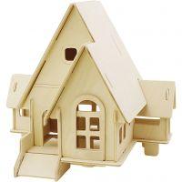 Figura de construcción 3D, Casa con rampa, medidas 22,5x17,5x20,5 , 1 ud