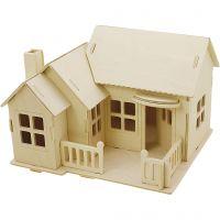 Figura de construcción 3D, casa con terraza, medidas 19x17,5x15 , 1 ud