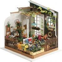Habitación en miniatura DIY, Jardín, A: 21 cm, A: 19,5 cm, 1 ud