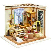 Habitación en miniatura DIY, A: 19 cm, A: 22,5 cm, 1 ud