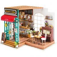 Habitación en miniatura DIY, Cafetería, A: 19 cm, L. 22,6 cm, A: 19,4 cm, 1 ud
