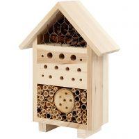 Hotel para insectos, A: 26,1 cm, profundidad 9,2 cm, A: 18,4 cm, 1 ud