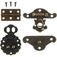 Mini accesorios, medidas 30-35 mm, oro antiguo, 10 set/ 1 paquete