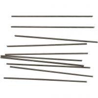 Barra de metal, L. 10 cm, dia: 2 mm, 10 ud/ 1 paquete