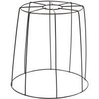 Pantalla de lámpara, A: 20 cm, dia: 15,5-20 cm, negro, 1 ud