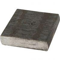 Soporte de metal, medidas 4x4x1 cm, medida agujero 2 mm, 1 ud