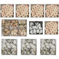 Pegatinas de madera, medidas 20-50 mm, El contenido puede variar , 10 paquete/ 1 caja