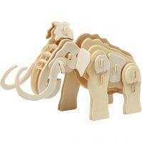 Figura de construcción 3D, mamut, medidas 19x8,5x11 cm, 1 ud