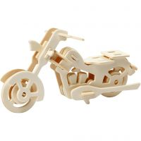 Figura de construcción 3D, motocicleta, medidas 19x9x9 cm, 1 ud