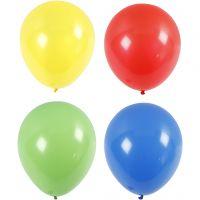 Globos, gigante, dia: 41 cm, azul, verde, rojo, amarillo, 4 ud/ 1 paquete