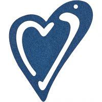 Corazón , medidas 55x45 mm, azul oscuro, 10 ud/ 1 paquete