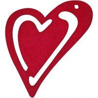 Corazón , medidas 55x45 mm, rosa oscuro, 10 ud/ 1 paquete
