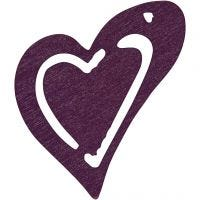 Corazón, medidas 25x22 mm, violeta oscuro, 20 ud/ 1 paquete