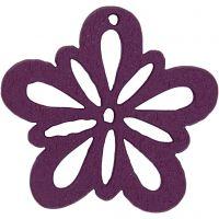 Flor, dia: 27 mm, violeta oscuro, 20 ud/ 1 paquete