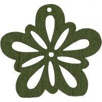 Flor, dia: 27 mm, verde oscuro, 20 ud/ 1 paquete