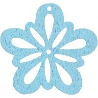 Flor, dia: 27 mm, azul turquesa light, 20 ud/ 1 paquete