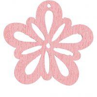 Flor, dia: 27 mm, rosado, 20 ud/ 1 paquete