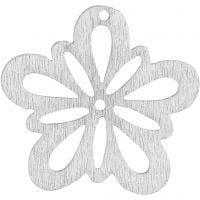 Flor, dia: 27 mm, blanquecino, 20 ud/ 1 paquete