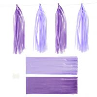 Borla de papel, medidas 12x35 cm, 14 gr, violeta oscuro, 12 ud/ 1 paquete
